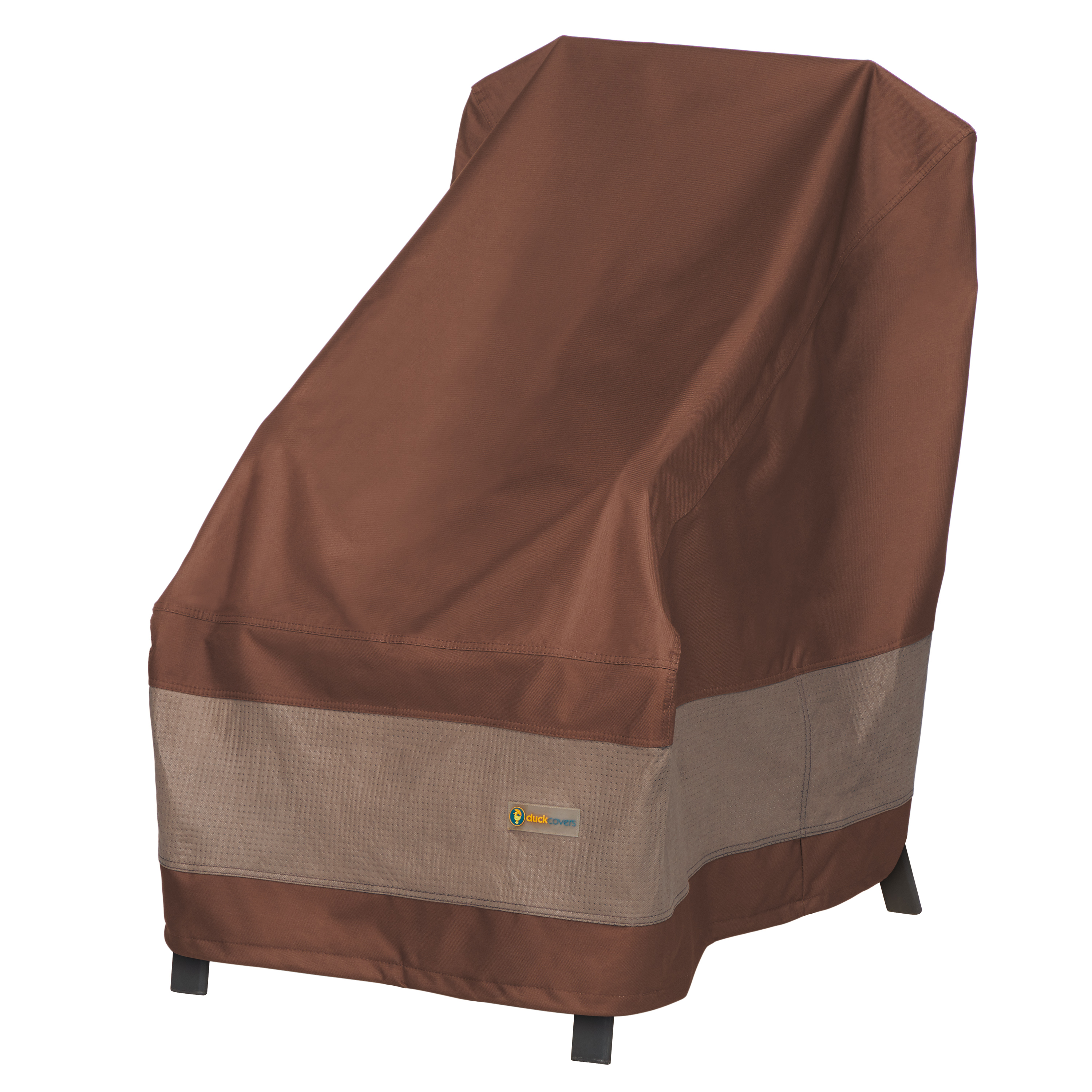 """Duck Covers 26""""x33""""x35"""" Brown Patio High Back Chair Cover, Ultimate"""
