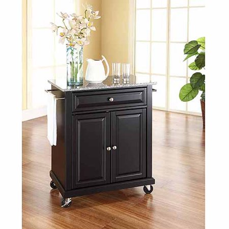 Crosley Furniture Solid Granite Top Portable Kitchen Cart ()