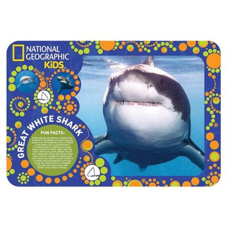 giftcraft 488974 national geographic 3d placemat great white shark