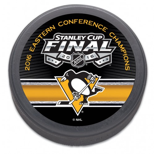 Pittsburgh Penguins NHL 2016 Eastern Conference Champs Stanley Cup Hockey Puck