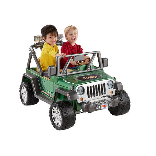 Power Wheels Deluxe Jeep Wrangler 12 Volt Ride On by FISHER PRICE