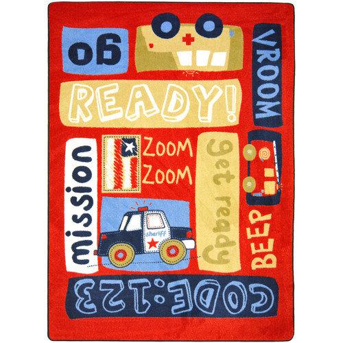 Joy Carpets Just For Kids Ready, Set, Go Area Rug
