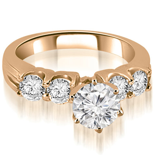 1.55 CT.TW Round Cut Diamond Engagement Ring in 14K White, Yellow Or Rose Gold