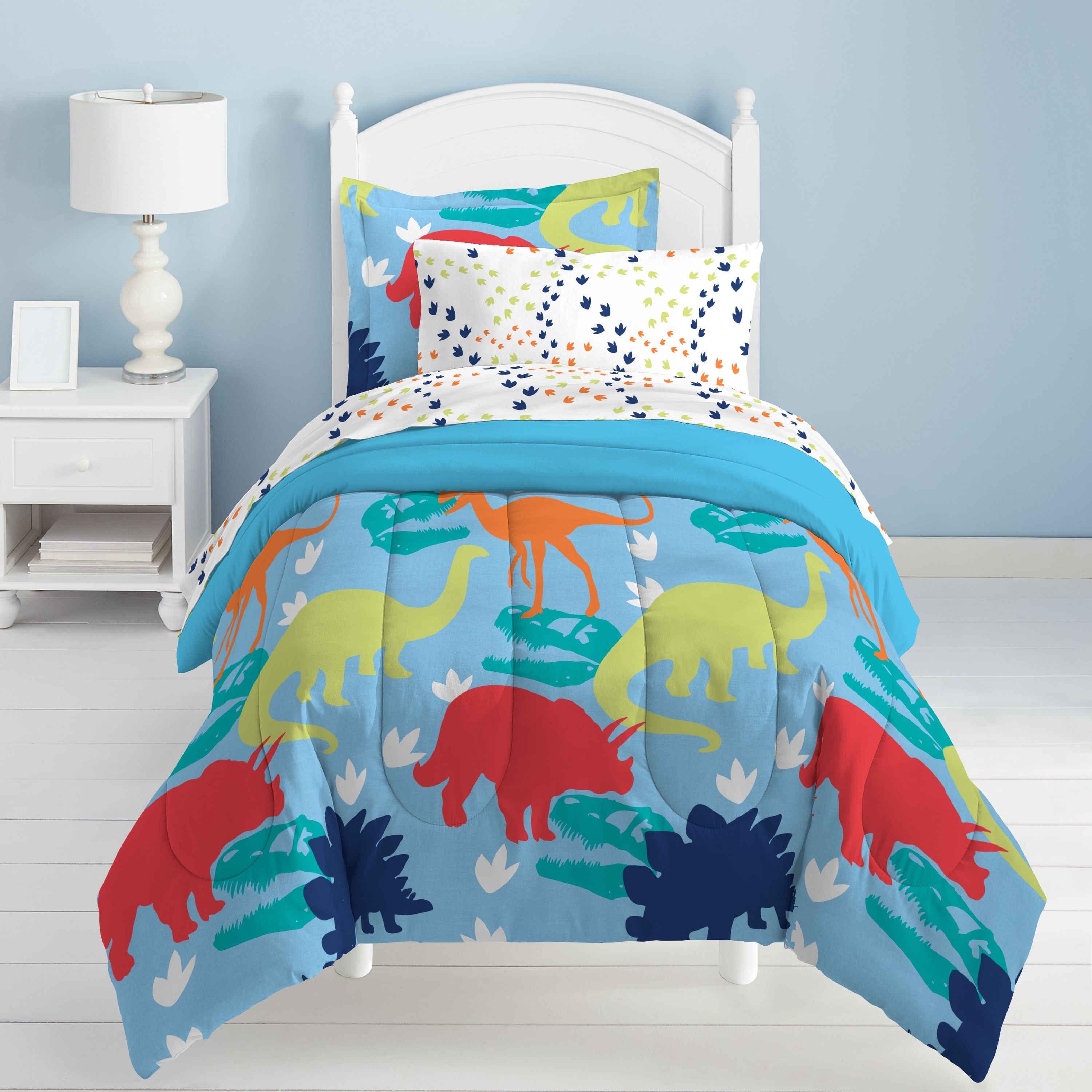 Dream Factory Dinosaur Bed in a Bag Bedding Set