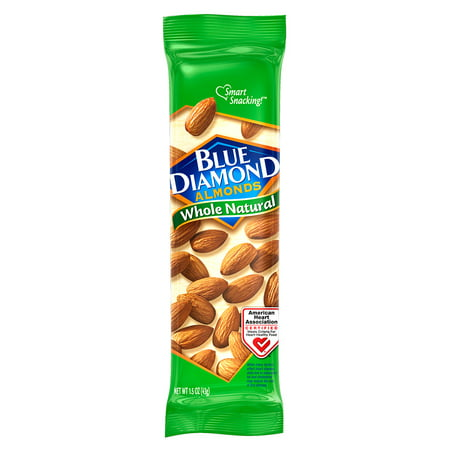 Blue Diamond Whole Natural Almonds 12-Count Now $6.28 (Was $12.36)