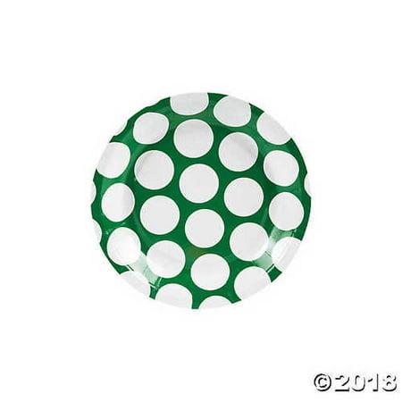 Green Large Polka Dot Paper Dessert (Dots Dessert)
