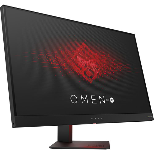 Refurbished HP OMEN 27 Inch Gaming Monitor QHD 165Hz 1ms NVIDIA G-SYNC - Black Aluminum