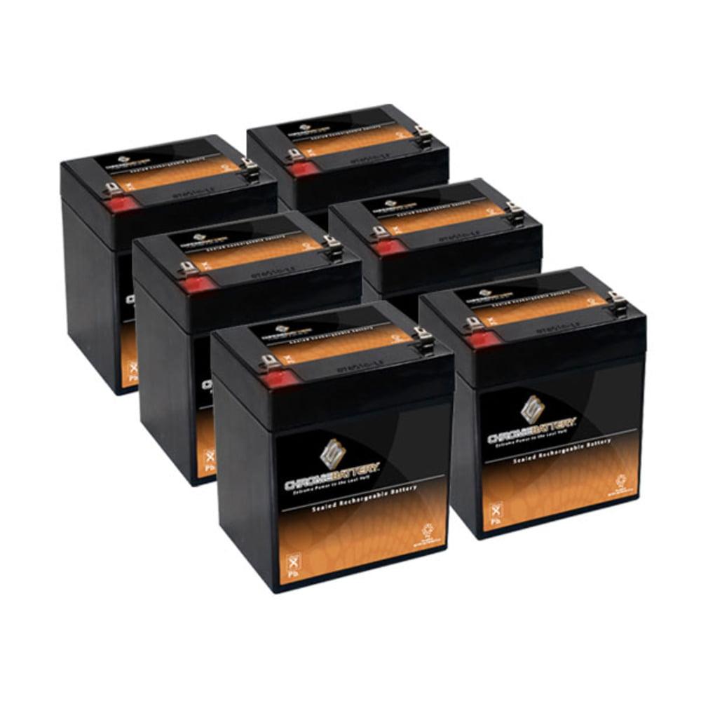 Chrome Battery 12V 5AH SLA Battery replaces nph5-12 hr122...