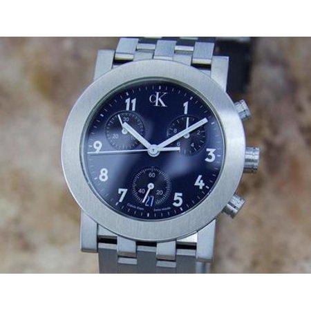 - Calvin Klein Swiss Made Mens Stainless Steel c2000 Quartz Chronograph Watch Y84