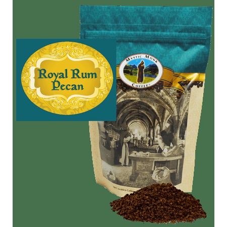 Mystic Monk Coffee - Royal Rum Pecan - Flavored Ground Coffee