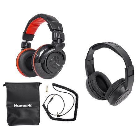 Numark Red Wave Carbon Full-Range Mixing DJ Headphones+Free Samson Headphones