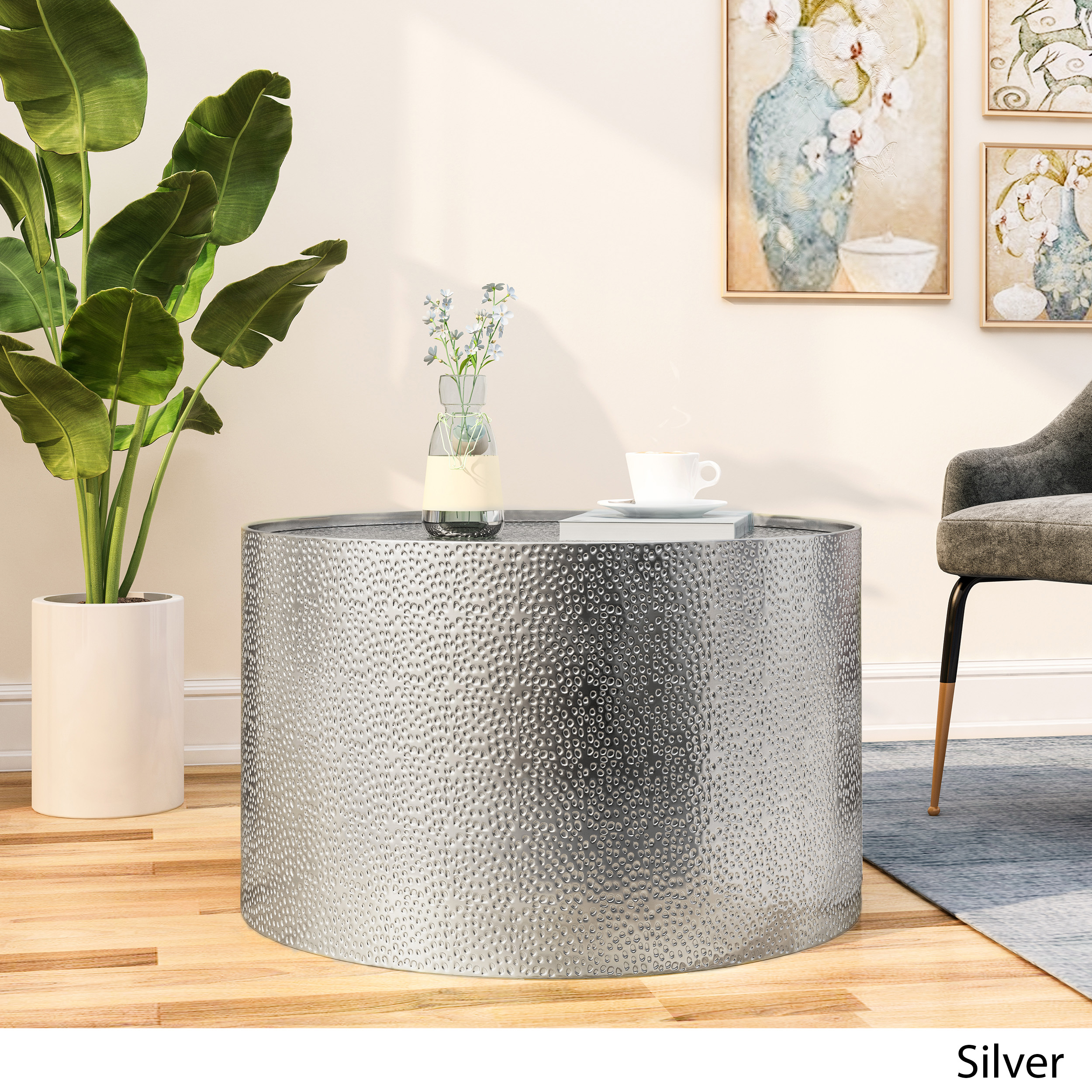 Contemporary and Sophisticated Kitchen and Dining Service Charger Silver Flat