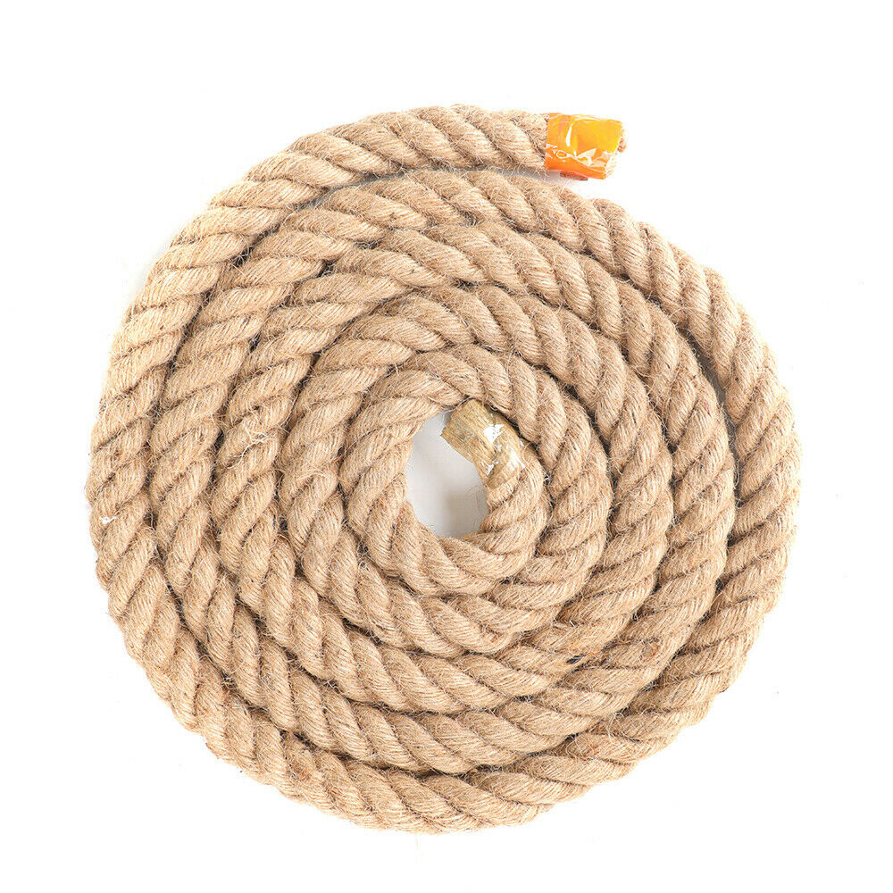 Garden,Gift Wrapping Brown Jute Twine 6mm 50Feet Natural Rope Twine for Plants Packing