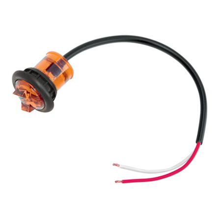 Hi Intensity Micro Led Amber Side Marker Clearance Light with Grommet Replacement Auto Part, Easy to Install ()