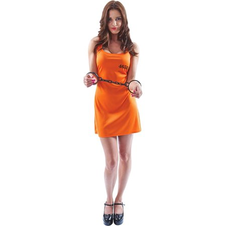 Orange Convict Dress Adult Costume