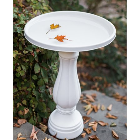 "Bloem Promo Bird Bath with Pedestal 25"" x 17"" White"