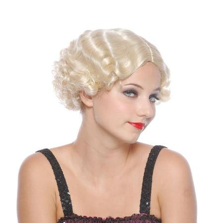 Loftus Finger Waves & Curls Short Marilyn Monroe Wig, Blonde, One Size - Marilyn Monroe Wig Halloween Express