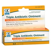 2 Pack Quality Choice Triple Antibiotic Ointment First Aid 0.5 Ounce Each