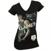 Walking Dead 24831L The Womens Claimed Black T-Shirt, Large