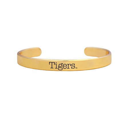 TIGERS Clemson Tigers Gold Plated Mascot Flex Cuff Braclet TRI GROUP