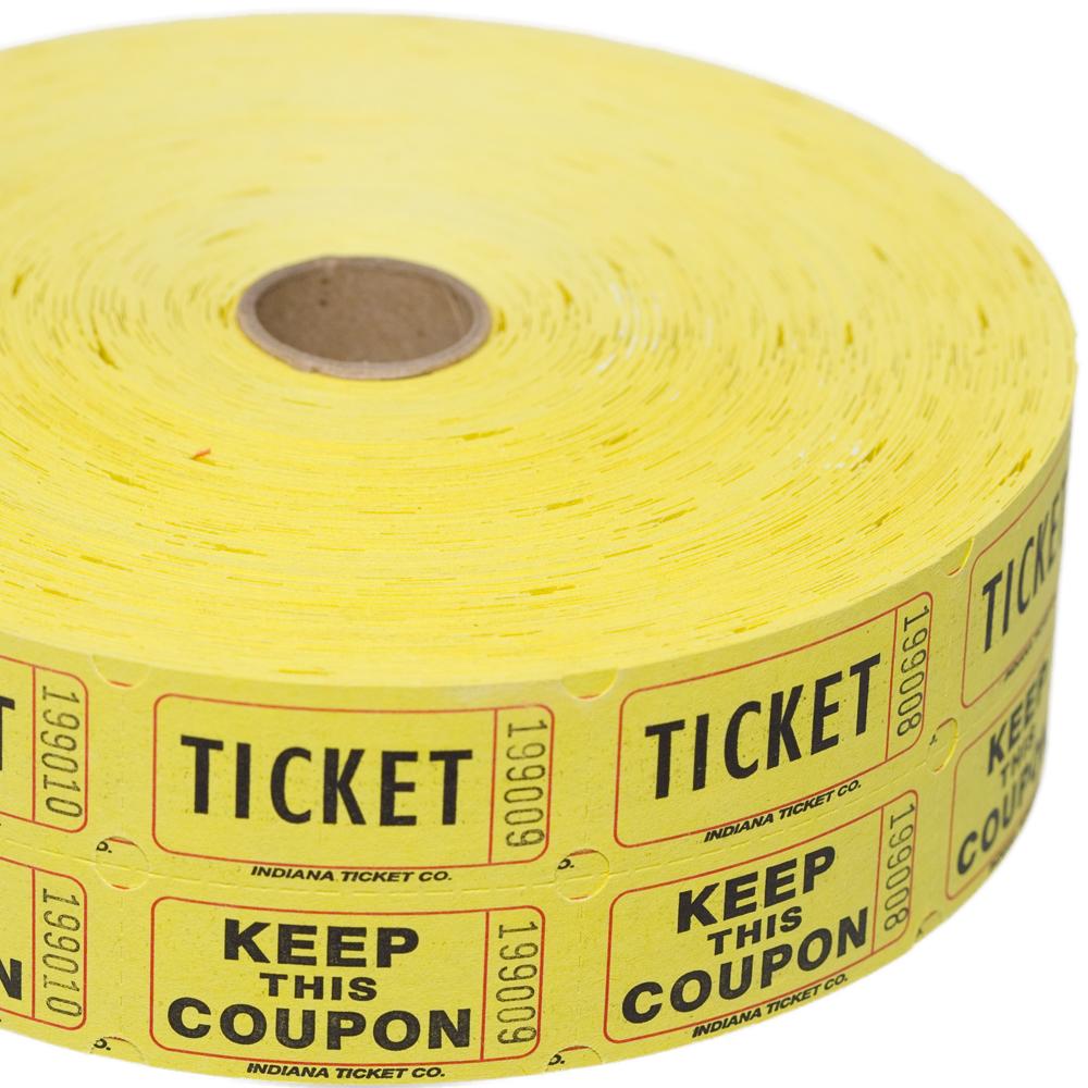 Yellow Double Raffle Ticket Roll