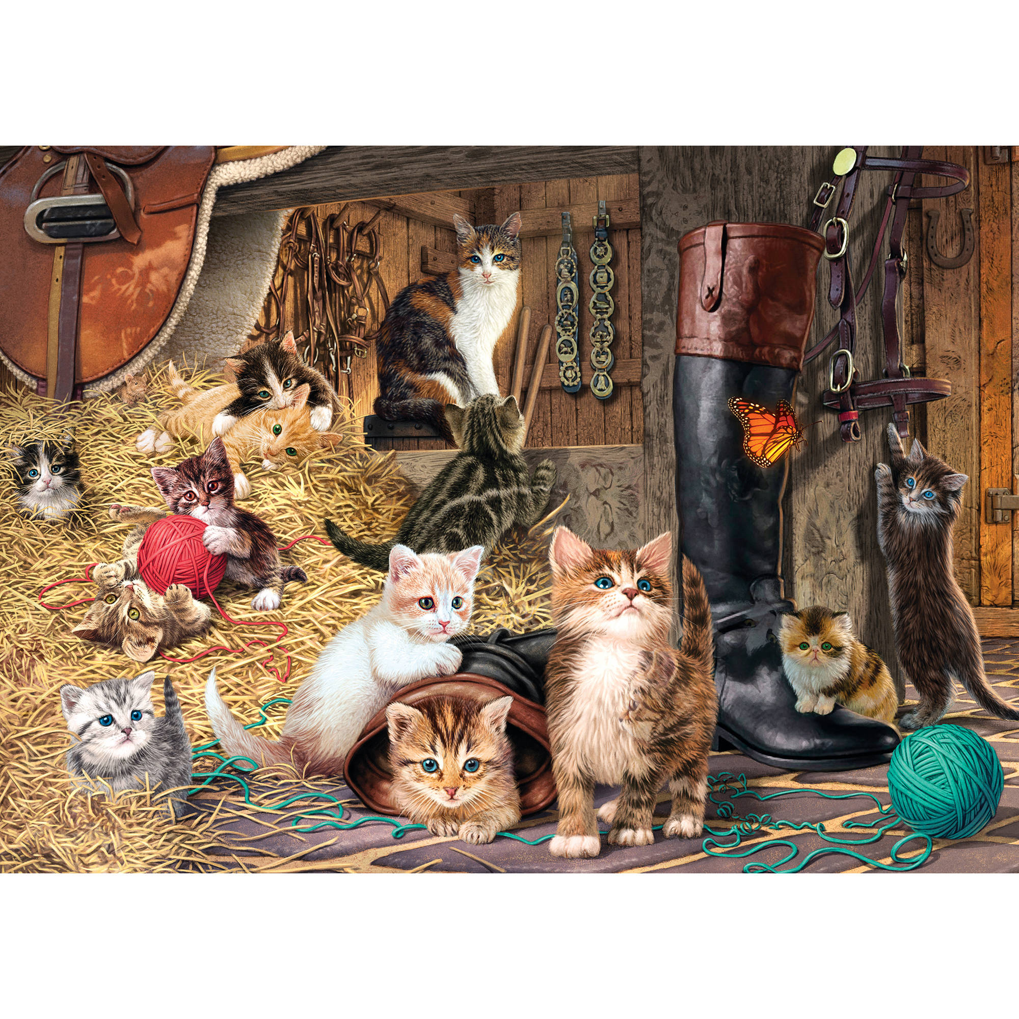 MasterPieces Watchful Eye Glow in the Dark Hidden Images 500-Piece Puzzle