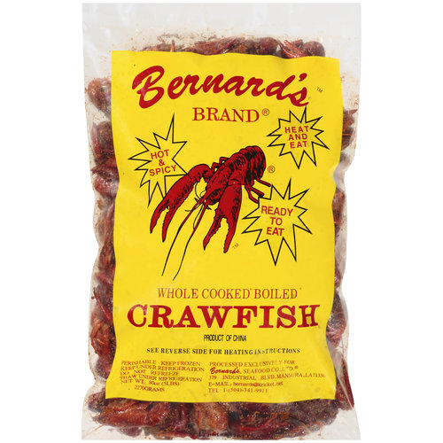Whole Cooked and seasoned crawfish