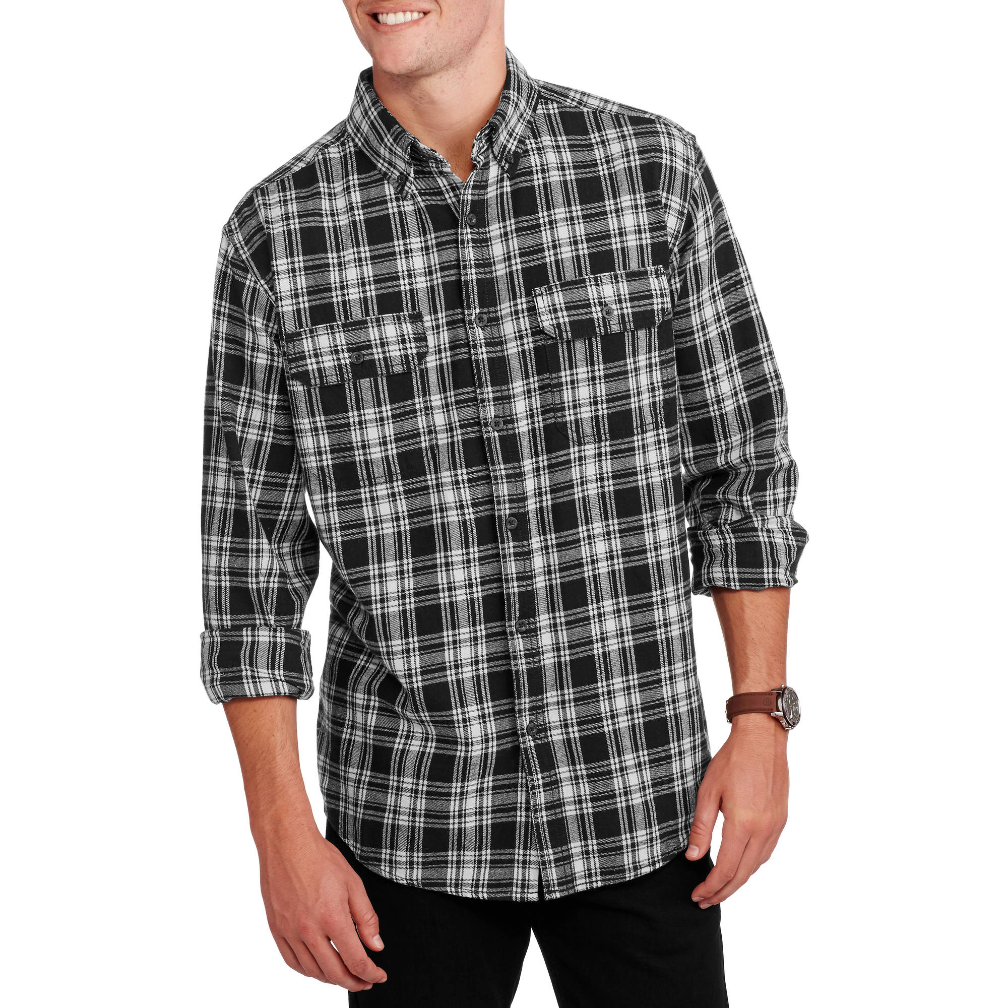 Faded Glory Big Men's Long Sleeve Flannel Shirt