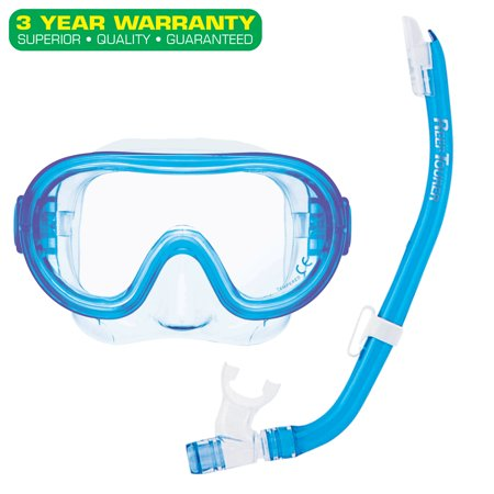 Reef Tourer Youth Single-Window Mask & Snorkel Combo Set for Kids