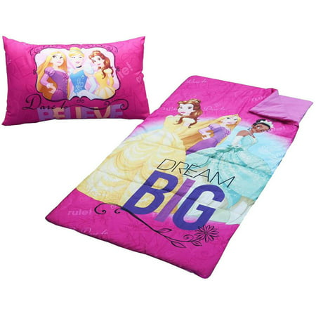Disney Princesses 2 Piece Sleeping Bag Set Walmart Com