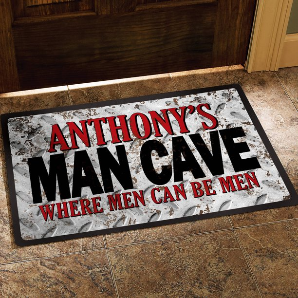 Personalized Man Cave Doormat, Available in 2 Sizes