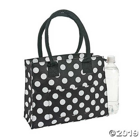Black & White Polka Dot Tote Bride Polka Dot Tote