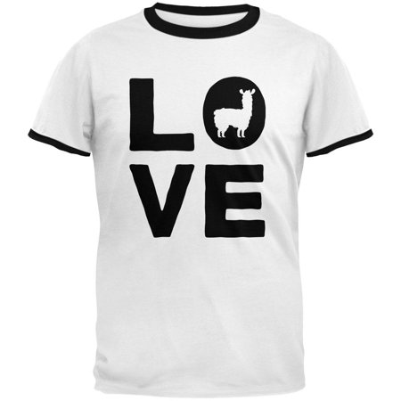 Llama Love Series Mens Ringer T Shirt
