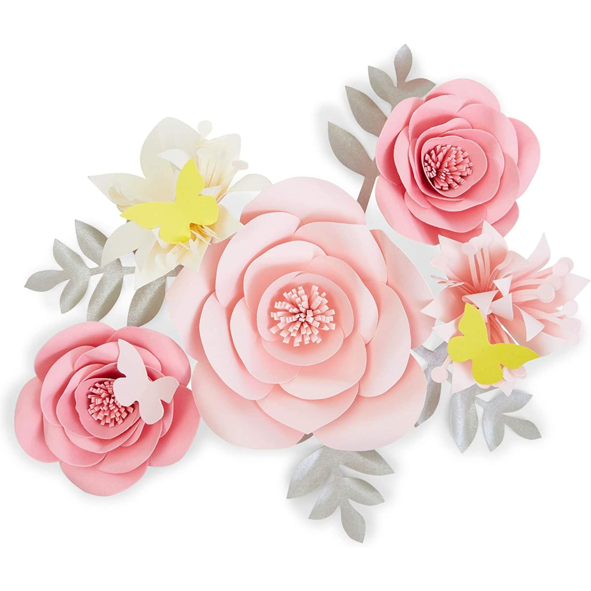 13 Piece Pink 3d Paper Flower Decoration For Wedding Party Backdrop Baby Shower Bridal Shower Wall Decor 5 9 Walmart Com Walmart Com