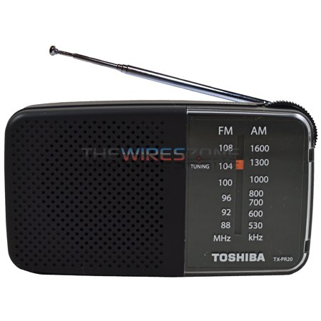 Toshiba TX-PR20 Black AM/FM Pocket Portable Battery Operated Radio