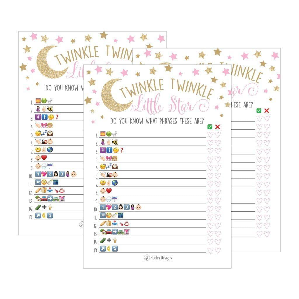 25 Twinkle Twinkle Emoji Pictionary Baby Shower Games Ideas For Men