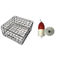 KUFA Vinyl(S60+FWM103) Coated Crab Trap with Float and Rope Combo