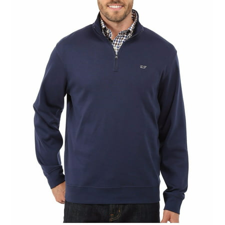 Vineyard Vines Men's Jersey Cotton 1/4 Zip Pullover Sweater Blue Blazer $98.50 (S) - Cotton Jersey Sweater