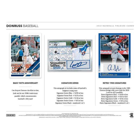 2019 Panini America Donruss Baseball Hobby Box 93516 24 Packs Of 8 Cards