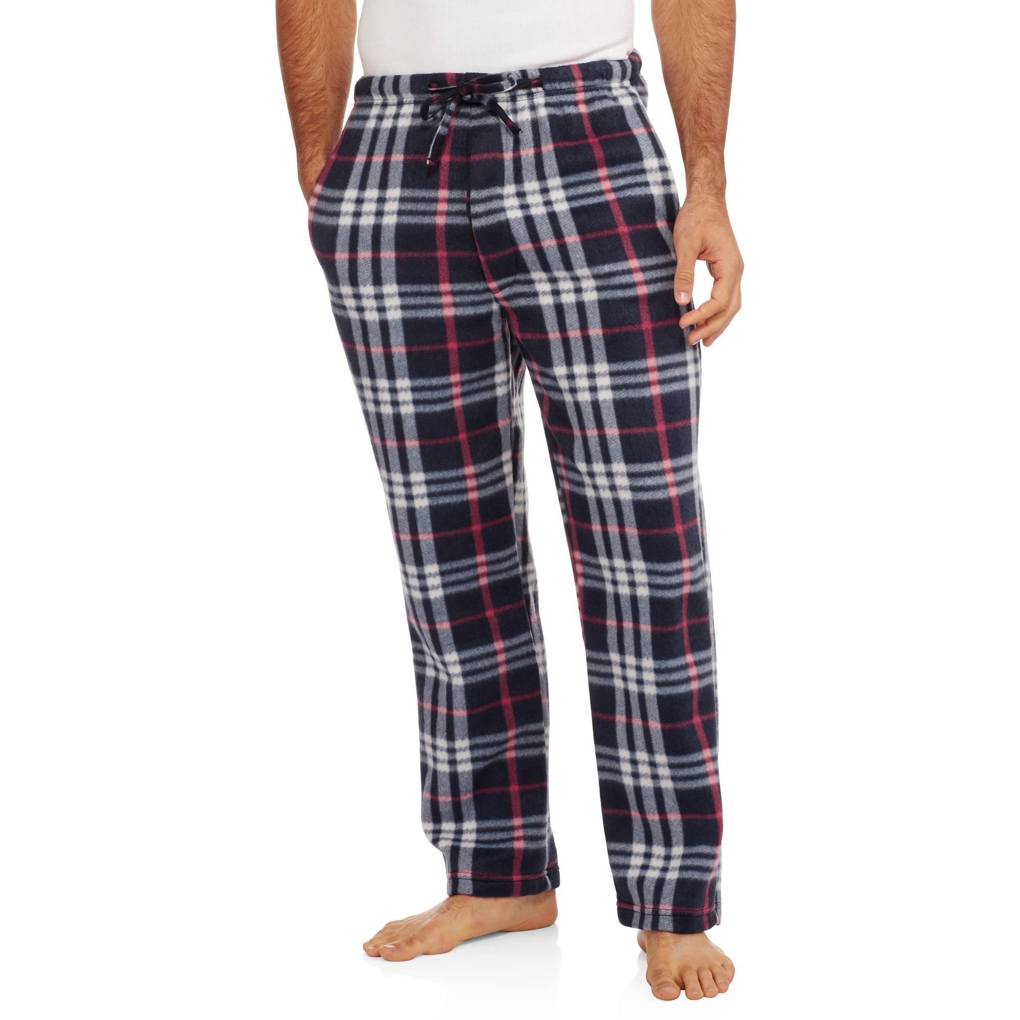 Big Men's Plaid Printed Polar Fleece Pants, 2XL