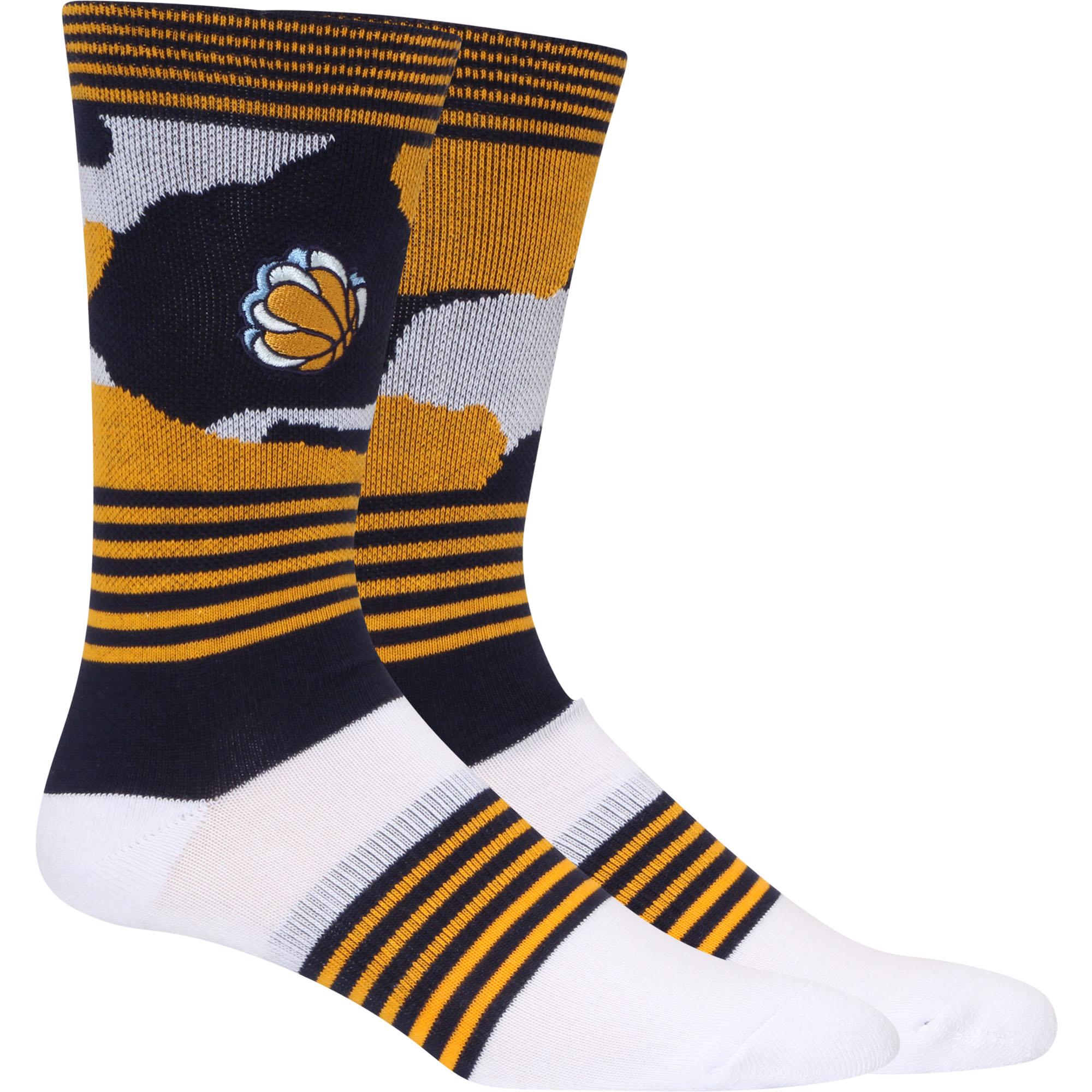 Memphis Grizzlies Camo Crew Socks - L
