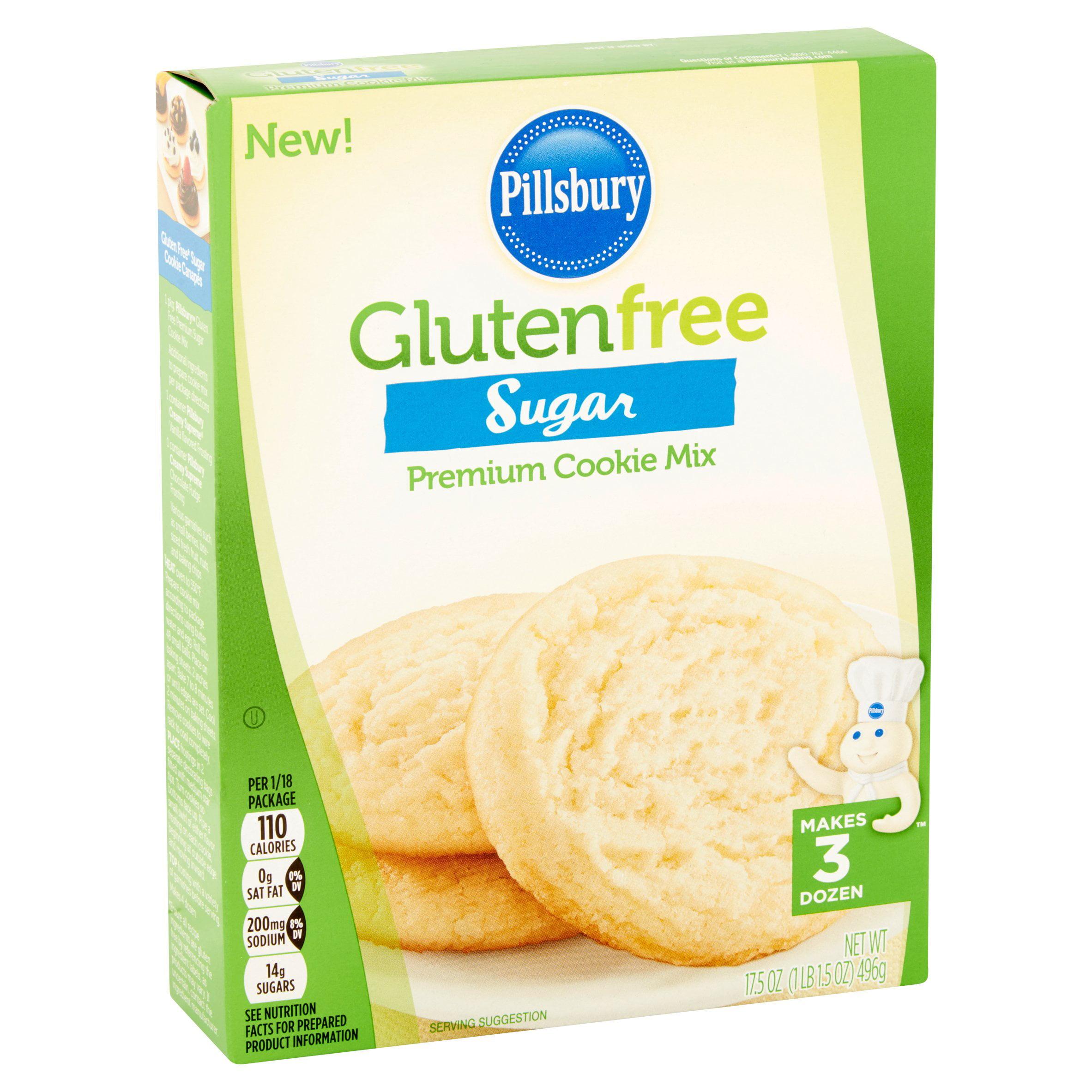 pillsbury gluten free sugar premium cookie mix, 17.5 oz - walmart