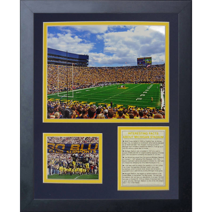 University of Michigan Stadium The Big House Framed Photo Collage, 11x14, by Legends Never Die