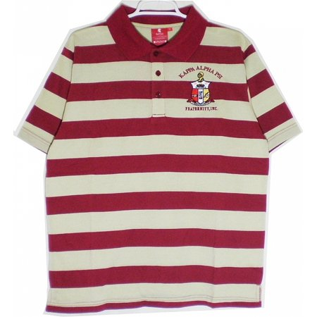 997e7d79248 Cultural Exchange - Buffalo Dallas Kappa Alpha Psi Rugby Style Striped Polo  Mens Tee [Short Sleeve - Crimson Red/Cream - 3XL] - Walmart.com