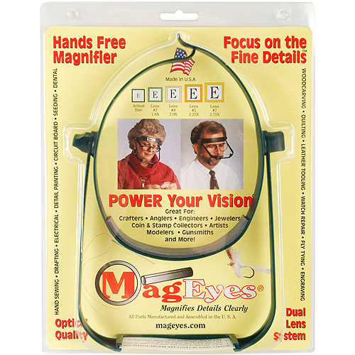Mag Eyes MagEyes Magnifier: Lenses #5 (2.25x) & #7 (2.75x)