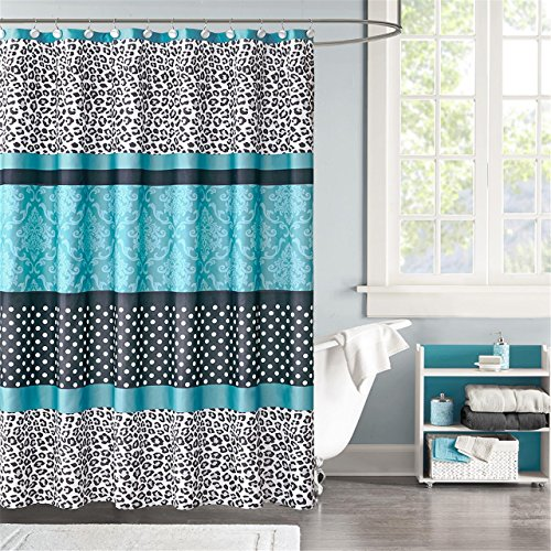 Home Essence Teen Christa Microfiber Shower Curtain