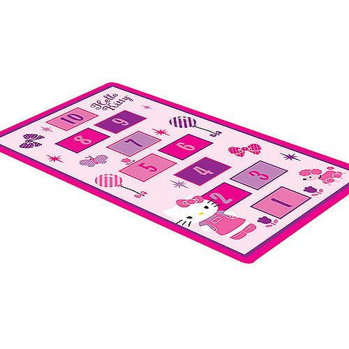 """Hello Kitty Nylon Game Rug, 4'10"""" x 2'9"""""""