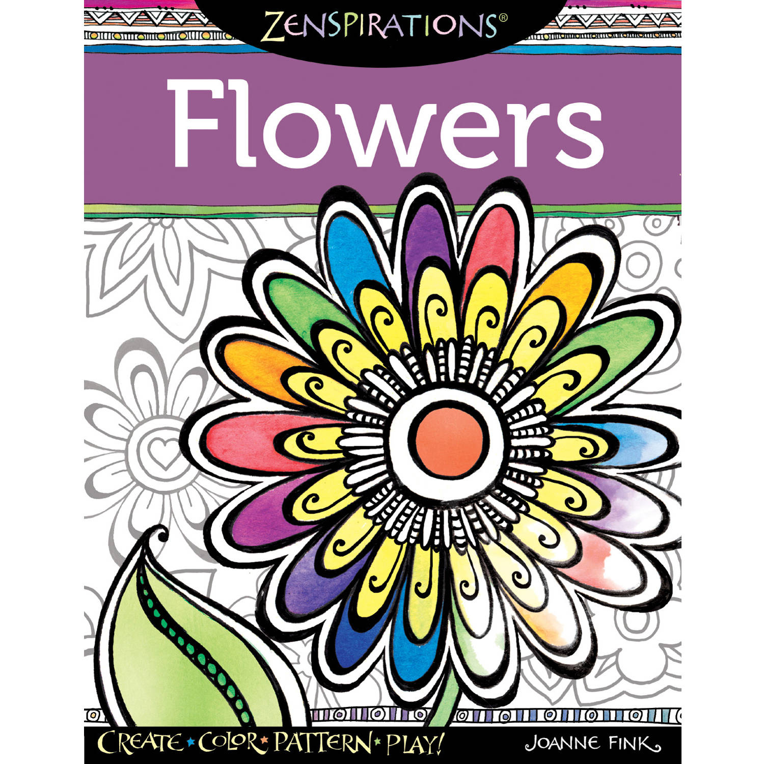 Design Originals Zenspirations Adult Coloring Book, Flowers