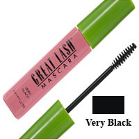 Maybelline Great Lash Washable Mascara, Very Black - 6 Ea, 6 Pack