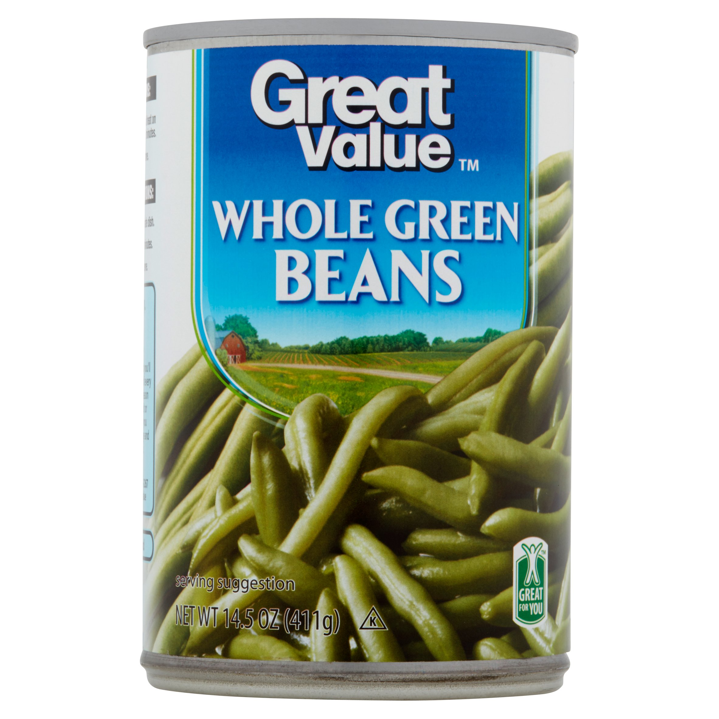 Great Value Whole Green Beans, 14.5 Oz